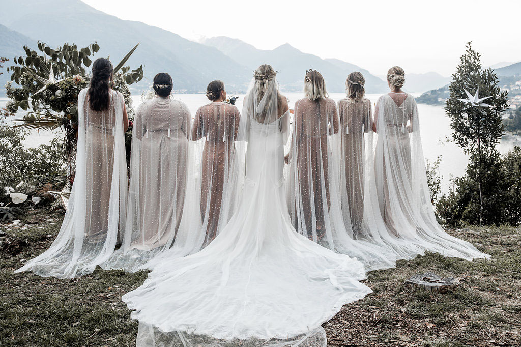 bridesmaids capes for 2019. Pic -  Lilly Red