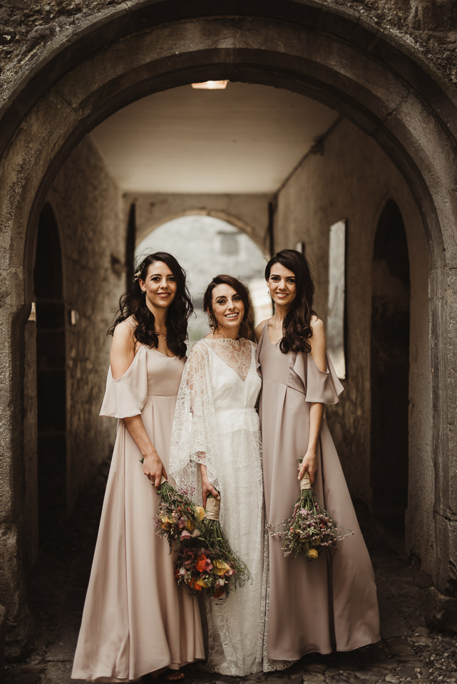 #a12bride Roisin chose Mykonos dress in 2 different colours for her girls. Pic  Tomasz Kornas