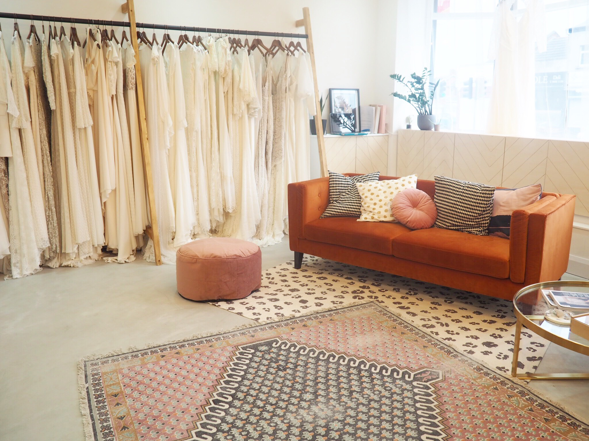 Relaxed vibes all round while you chose your favourite dresses to try on at ARCHIVE 12