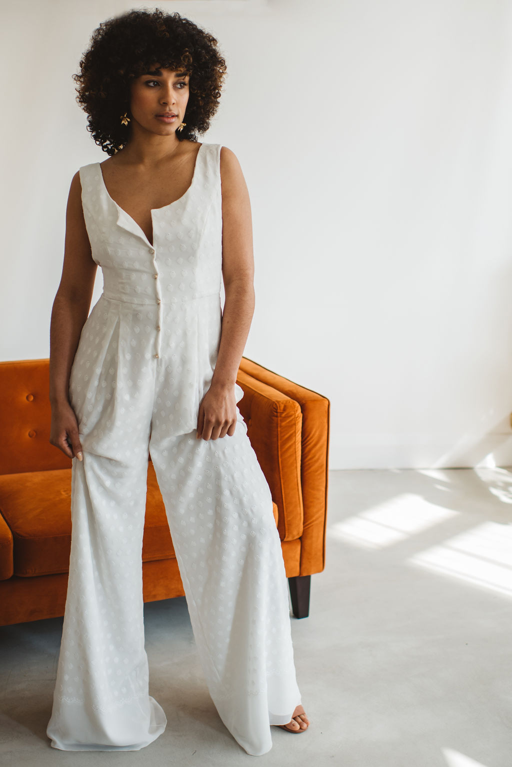 cool modern bridal jumpsuit at archive 12