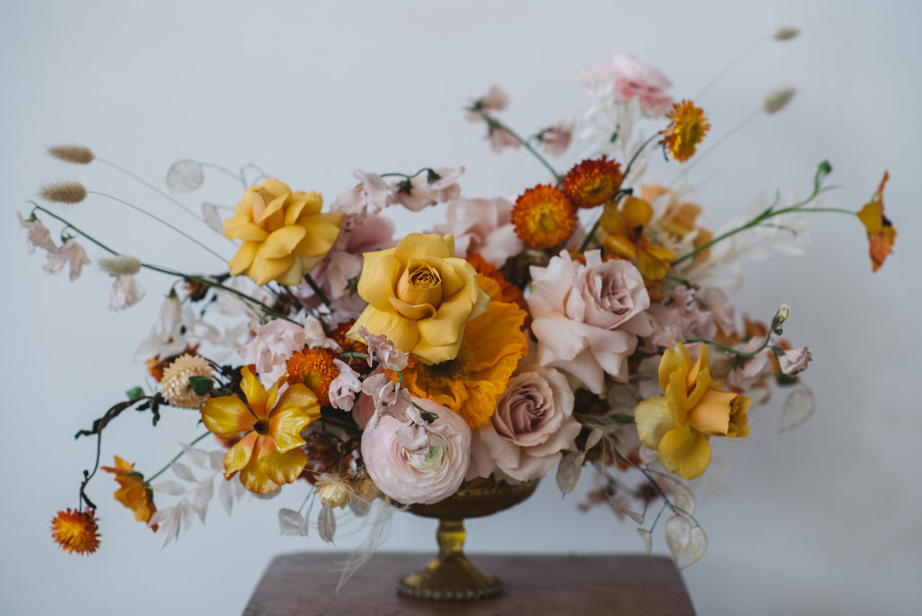 ORANGE AND YELLOW BRIDAL BOUTQUET - Archive 12 look book