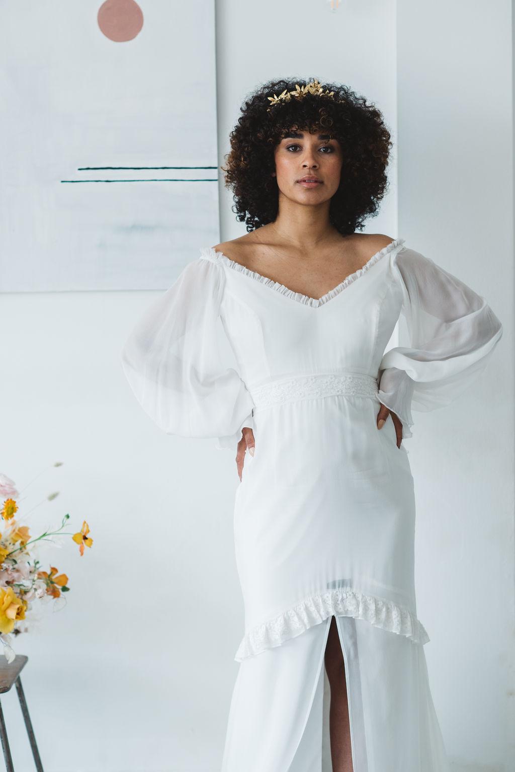 modern boho bride - daughters of simone ASH dress