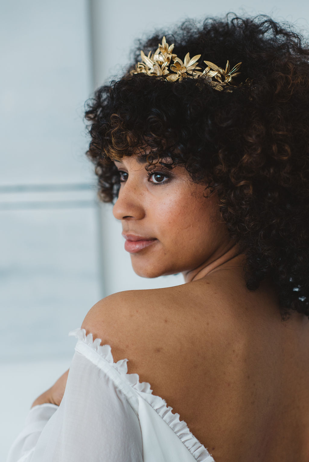 gold ivy bridal crown by a.b.ellie - ARCHIVE 12 look book