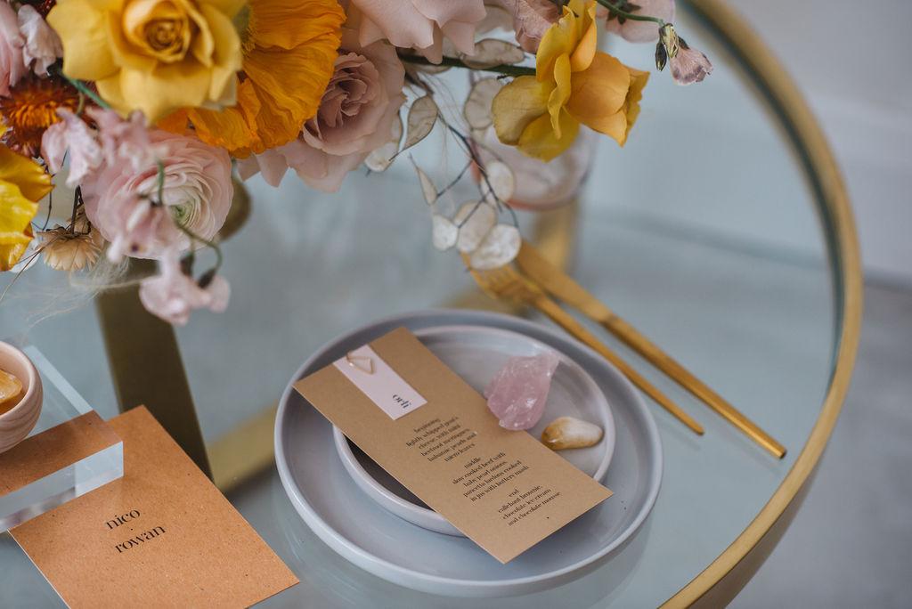 modern cool wedding stationary by KEADY ROW