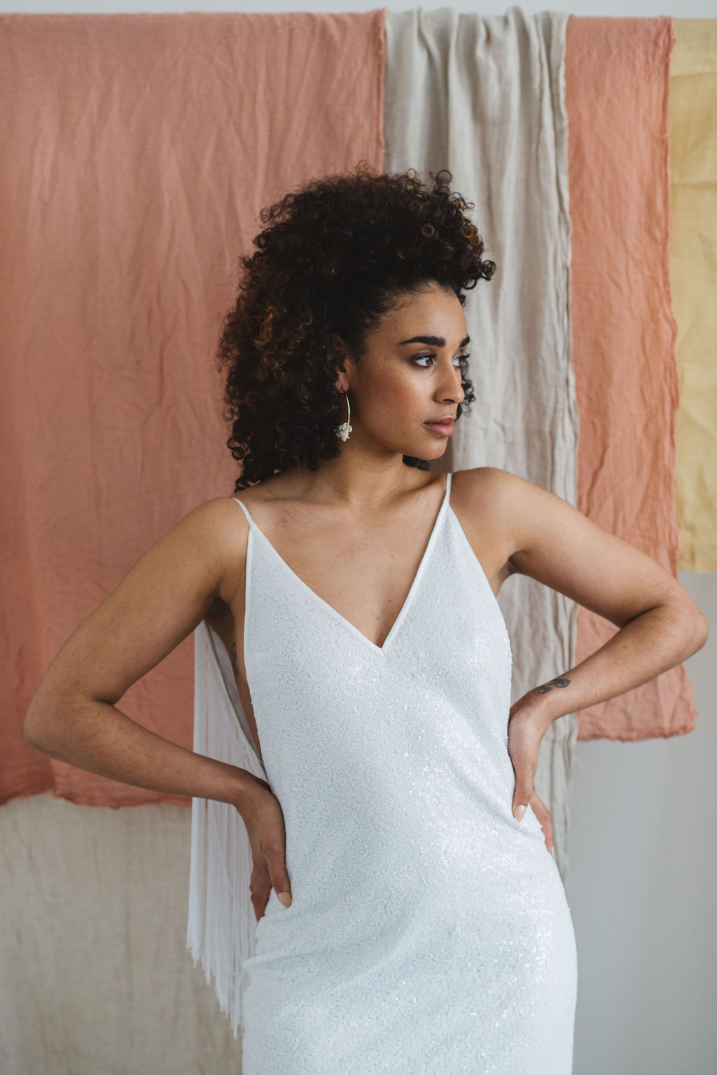 and for love BROOKLYN 2.0 fringed wedding dress
