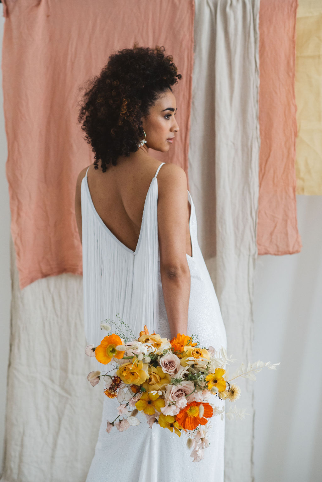 fringed boho wedding dress by AND FOR LOVE