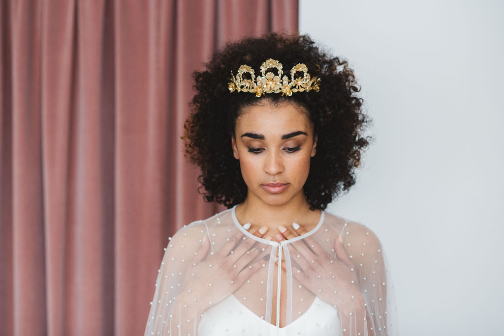 gold wedding crown for the modern bride