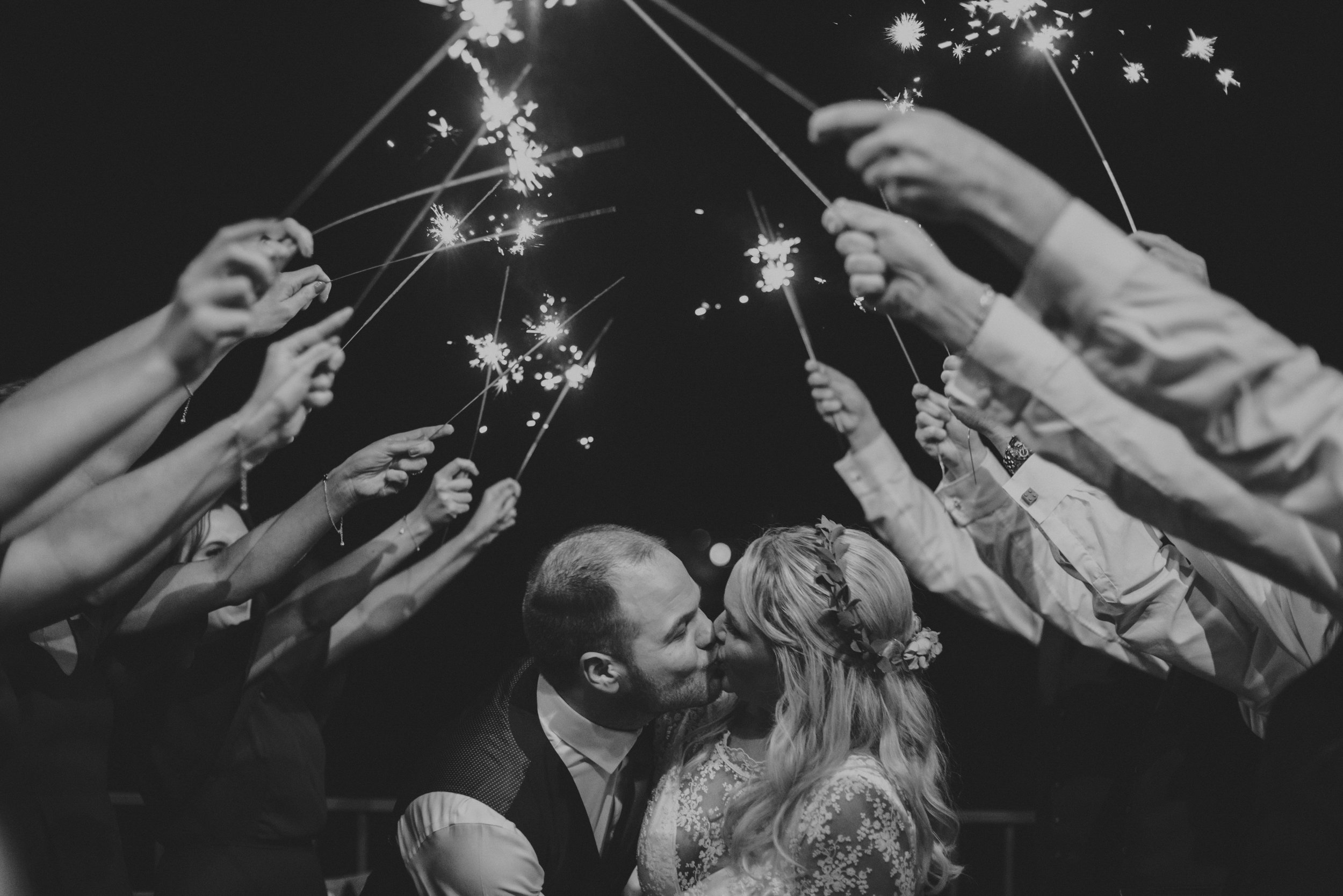 irish weddings 2019 - sparkler shot
