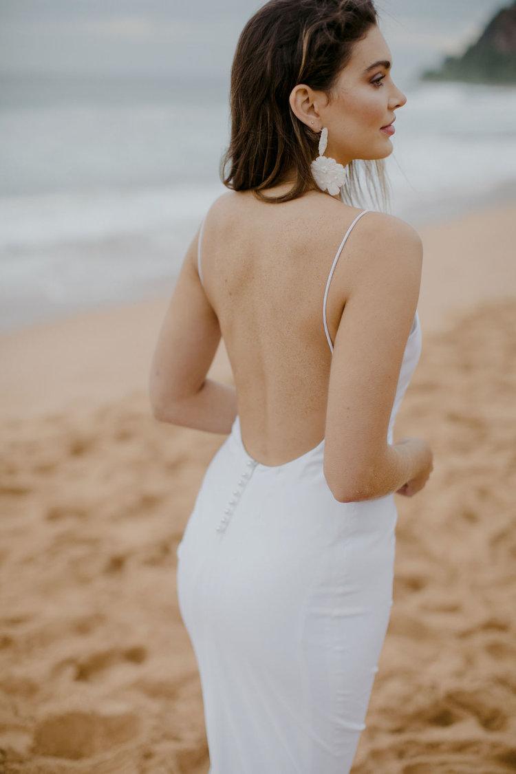 plain simple beach wedding dress