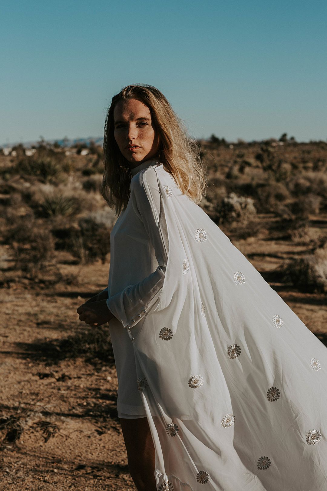 modern boho bridal cape  by Daughters of simone