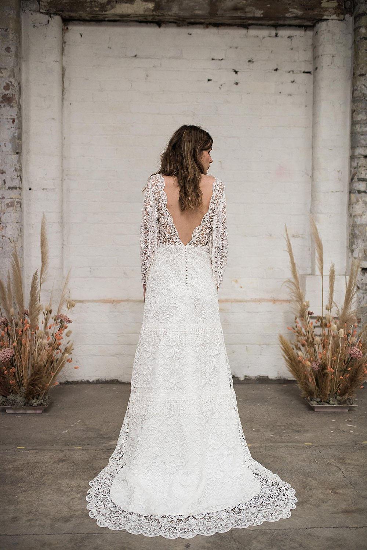 modern boho lace wedding dresses at ARCHIVE 12