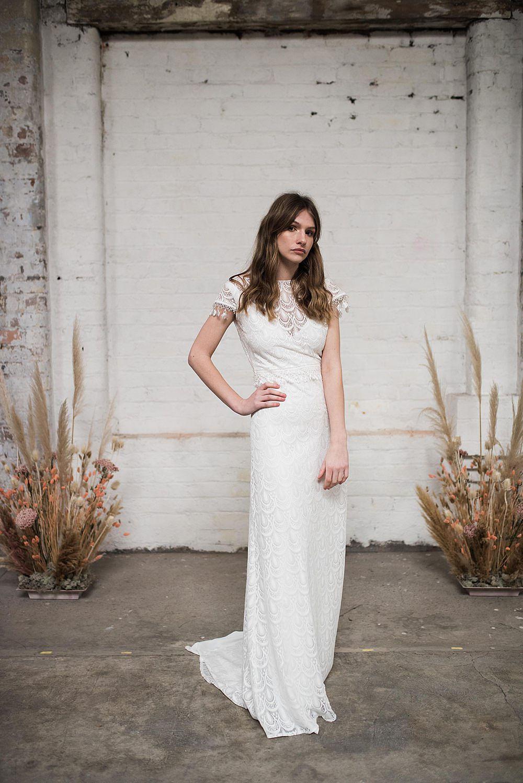 modern boho lace wedding dresses
