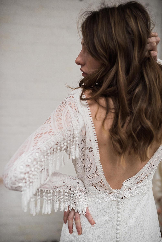 fringed bohemian wedding dress 2020
