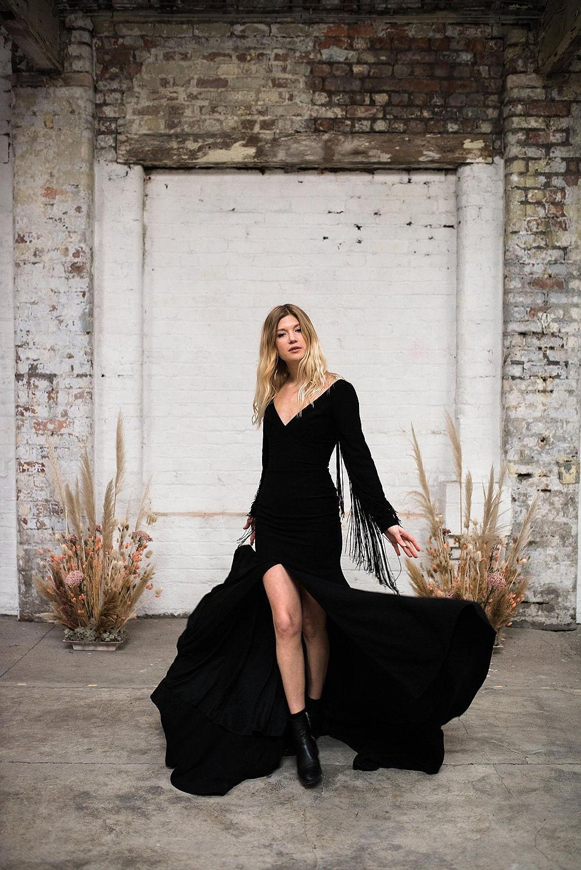 boho black wedding dress ireland