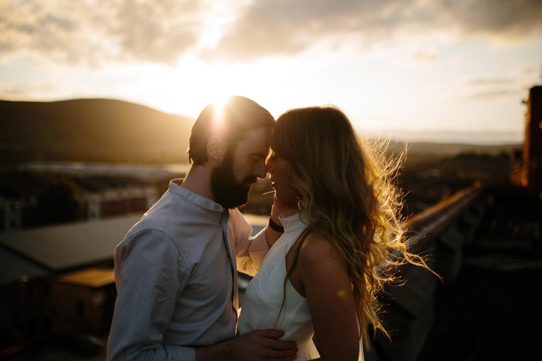 golden hour couples shoot belfast city