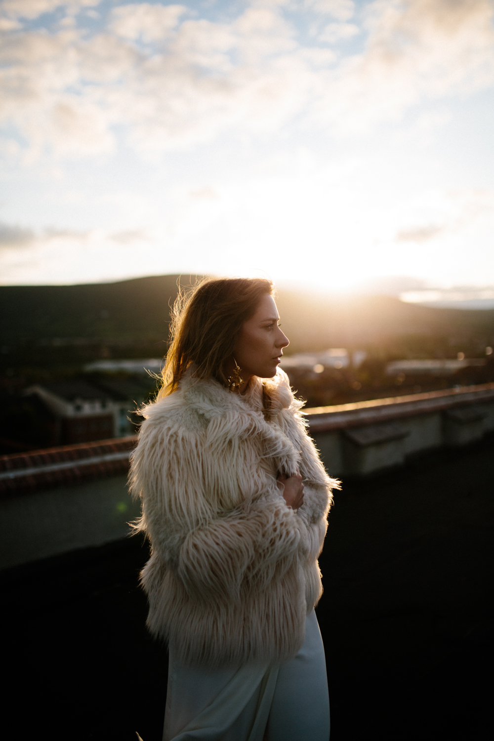rooftop fashion photography