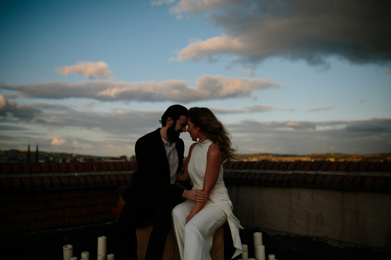 urban rooftop couples shoot ireland