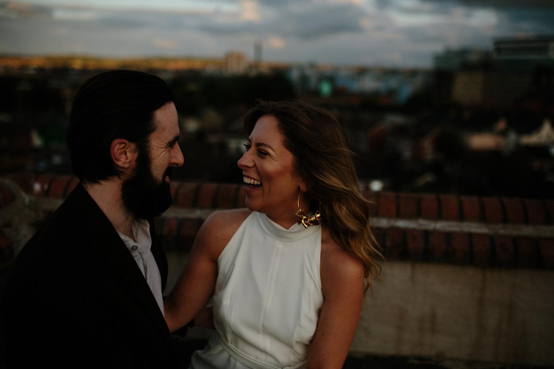 rooftop couples elopement belfast
