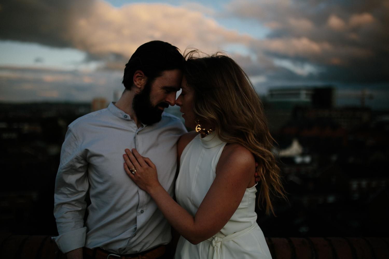 rooftop couples shoot in Belfast