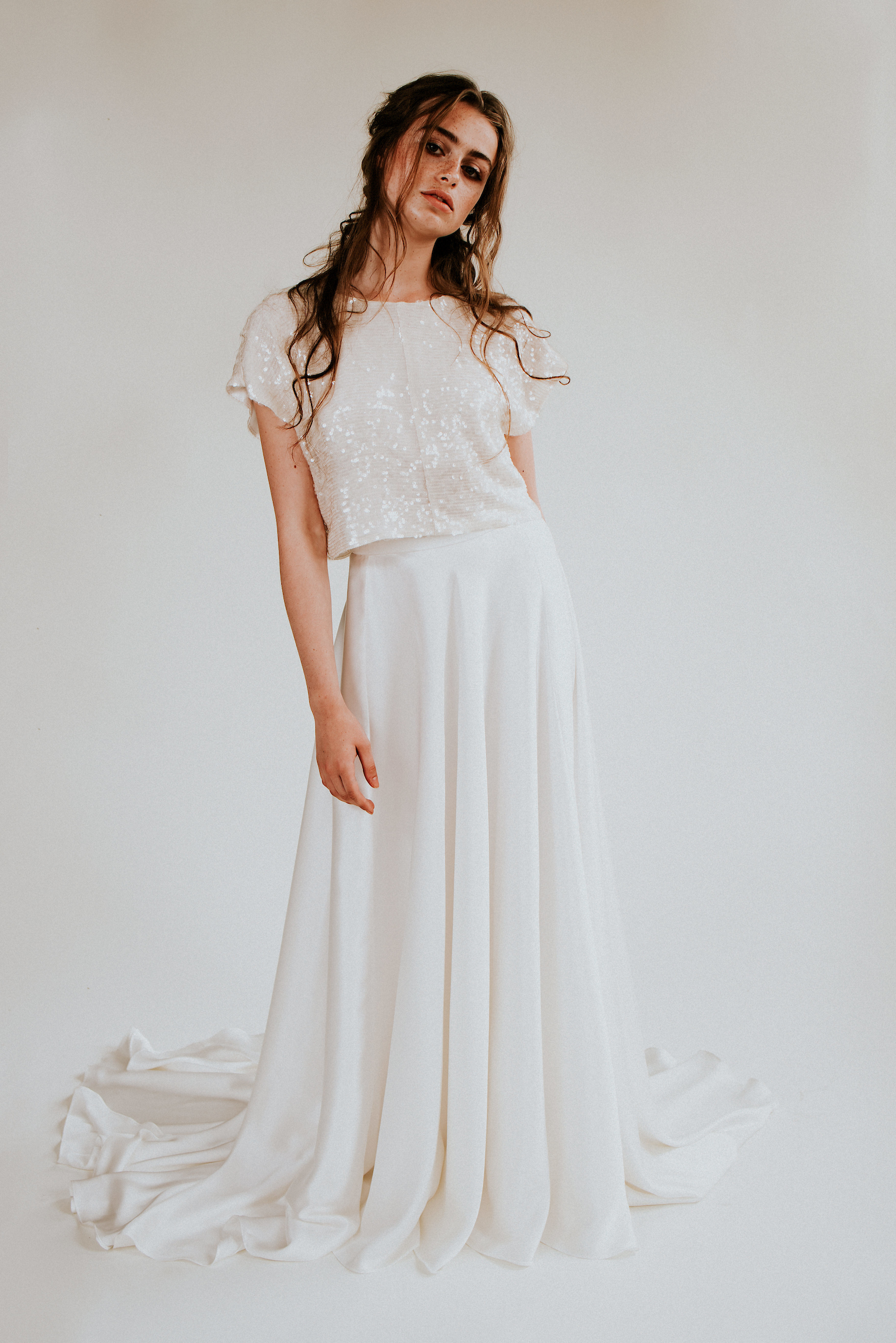 cool modern eco friendly wedding dress collection by Rolling in Roses for 2020