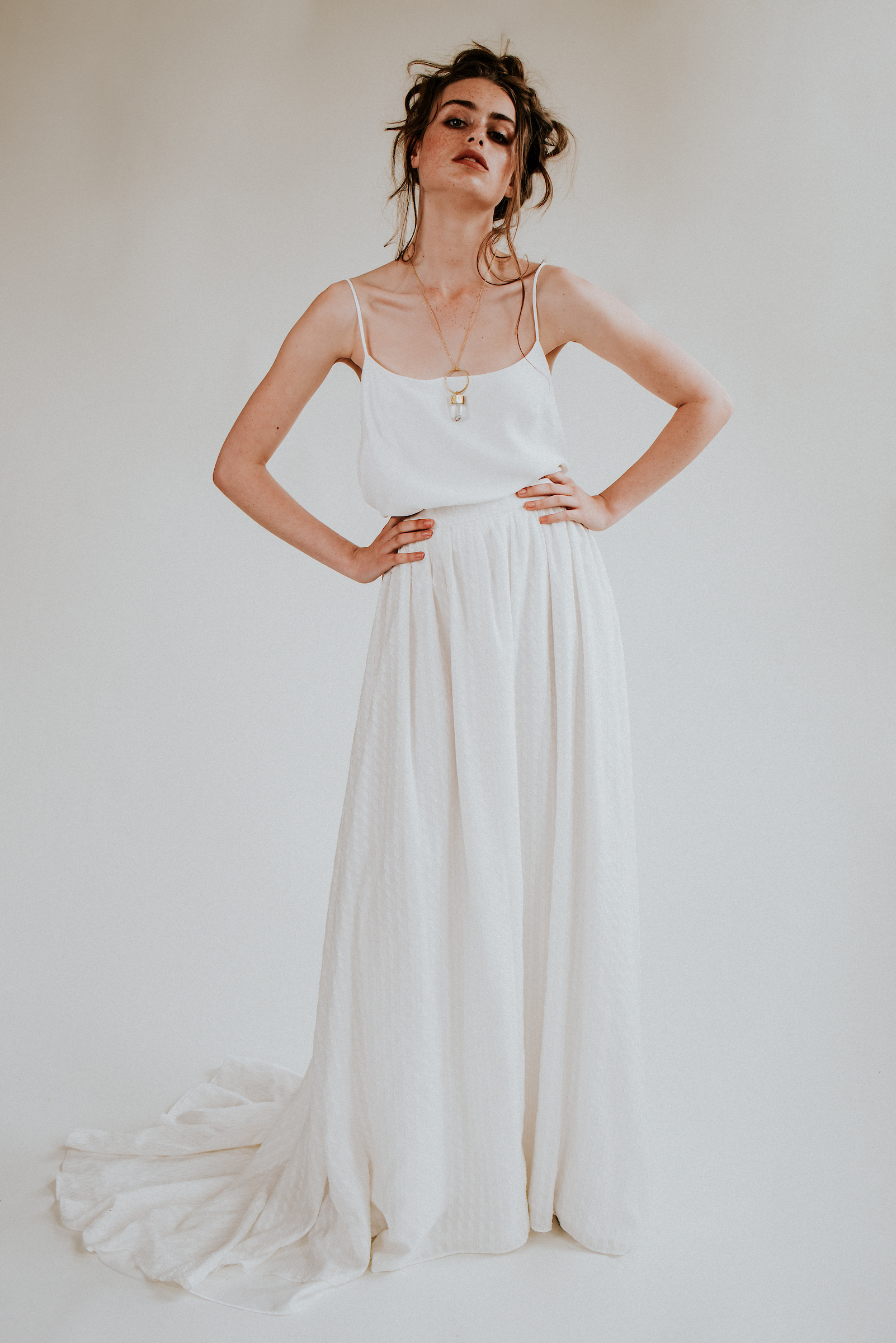 modern boho bridal separates from sustainable bridal label Rolling in Roses