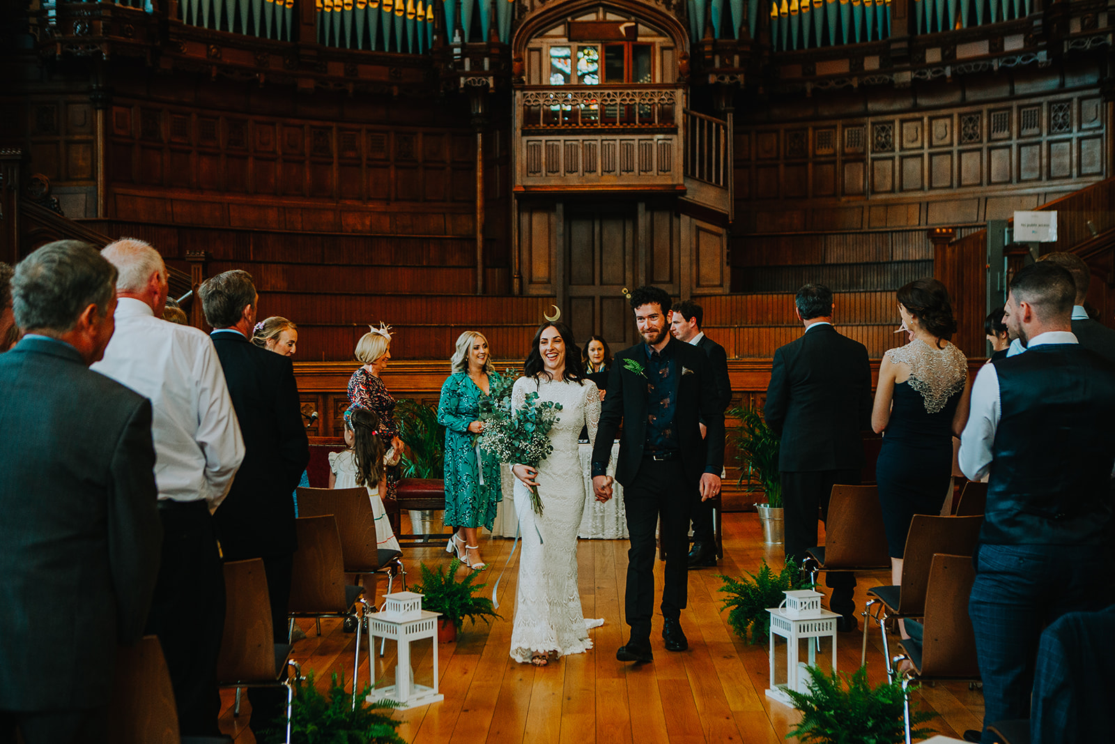 long sleeve lace wedding dress by Daughters of Simone