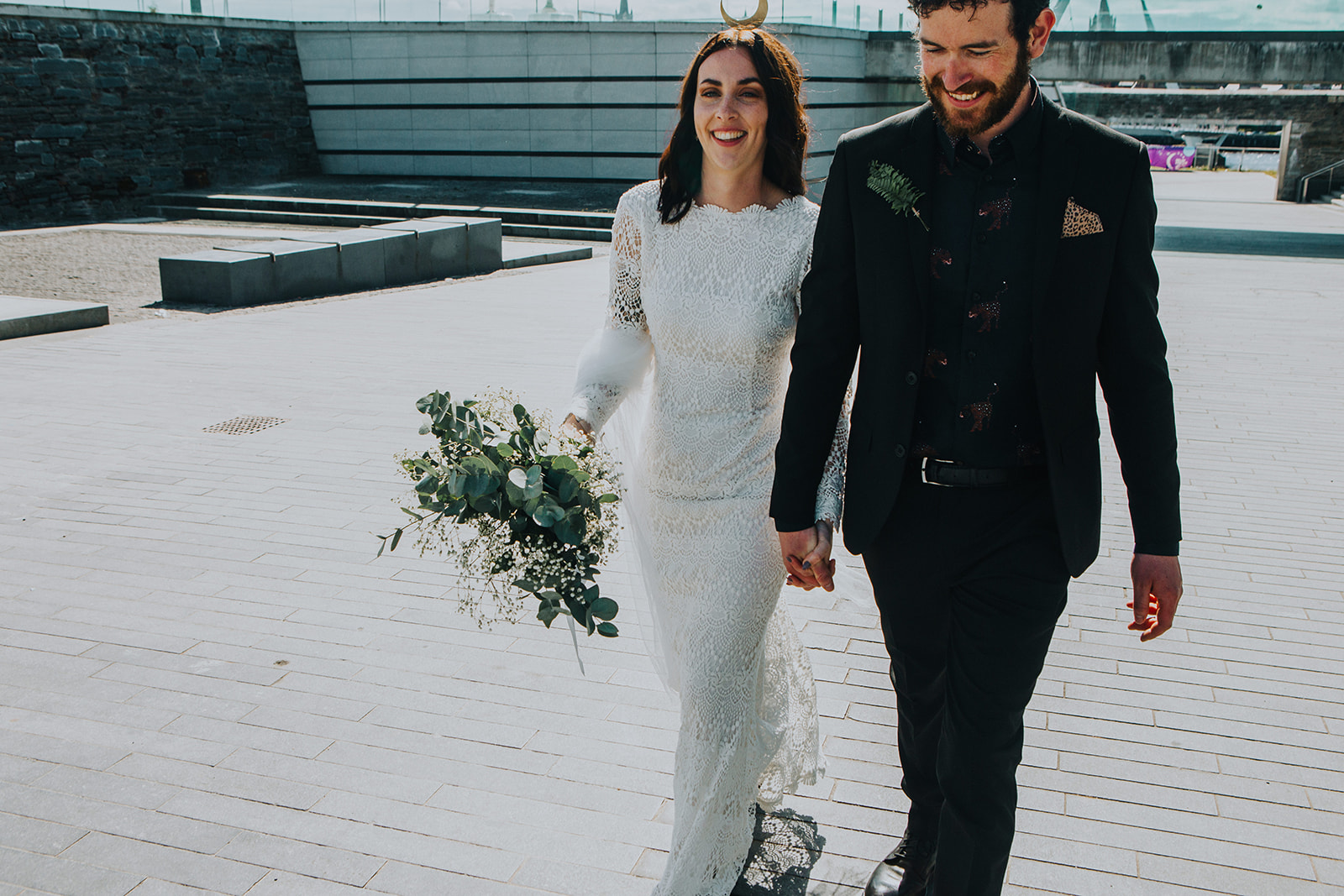 cool wedding dress by Daughters of Simone