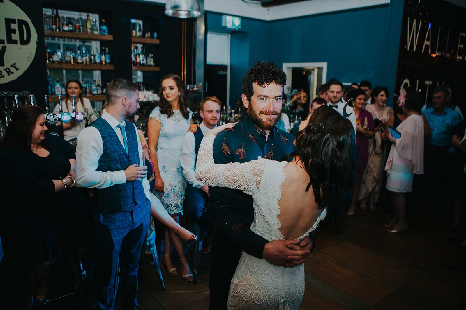 REAL BRIDE WEARING DAUGHTERS OF SIMONE LOLA