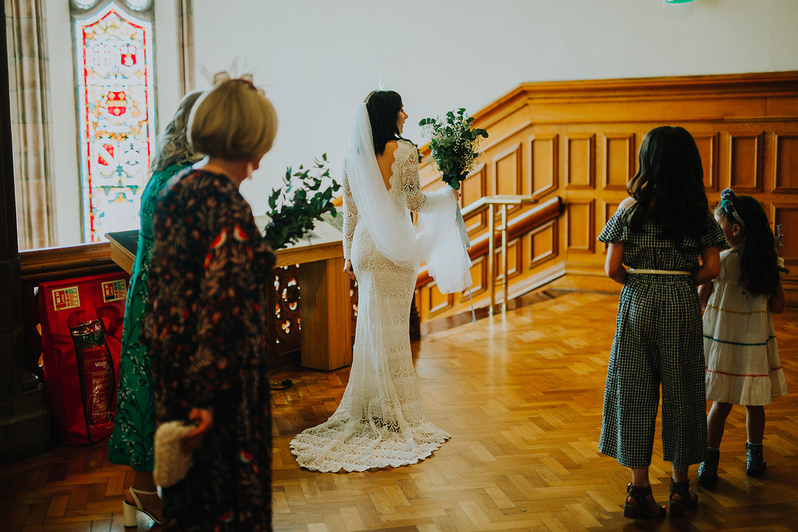 crochet lace wedding dress by daughters of simone