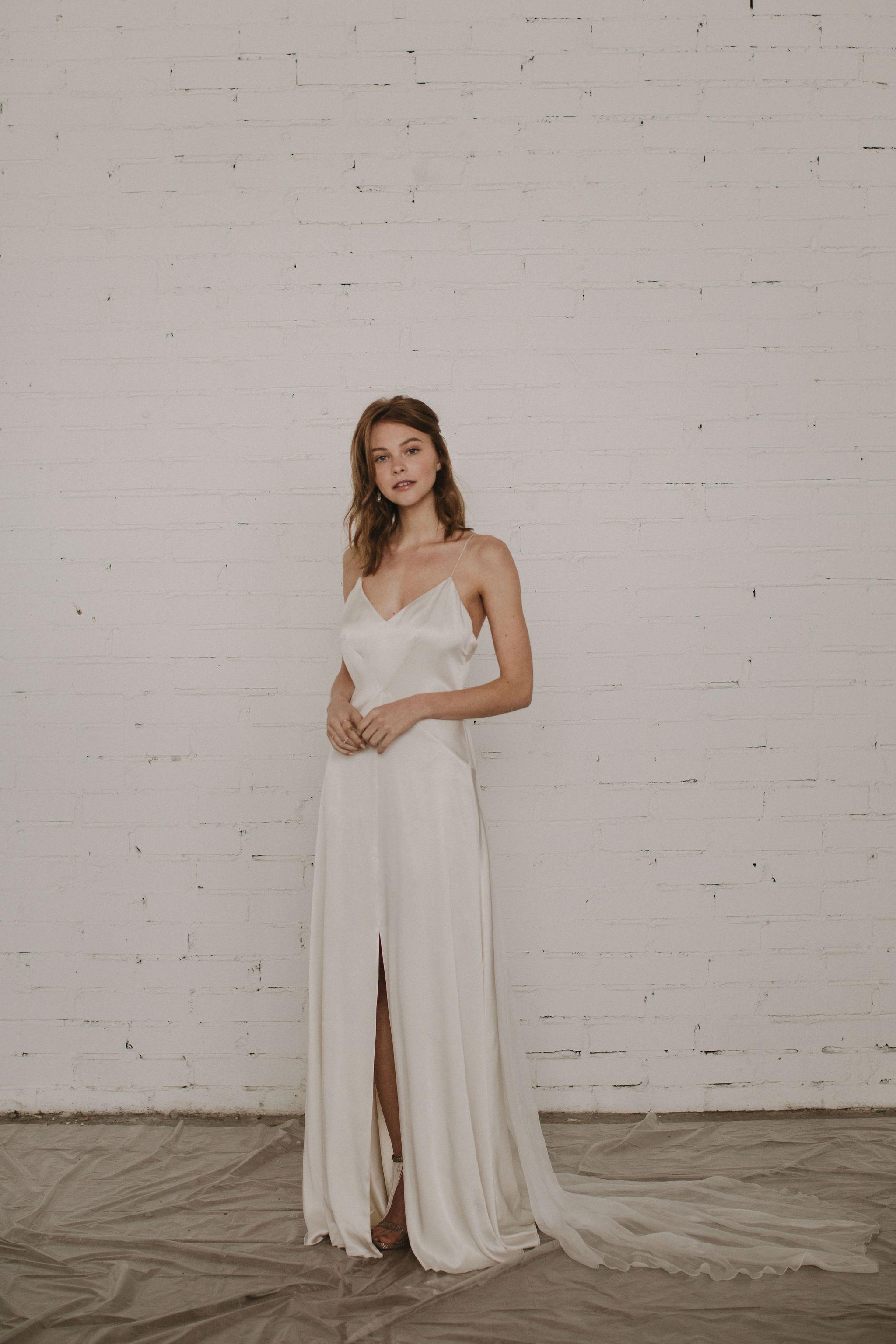 plain silk wedding dresses for 2020 at Archive 12 boutique