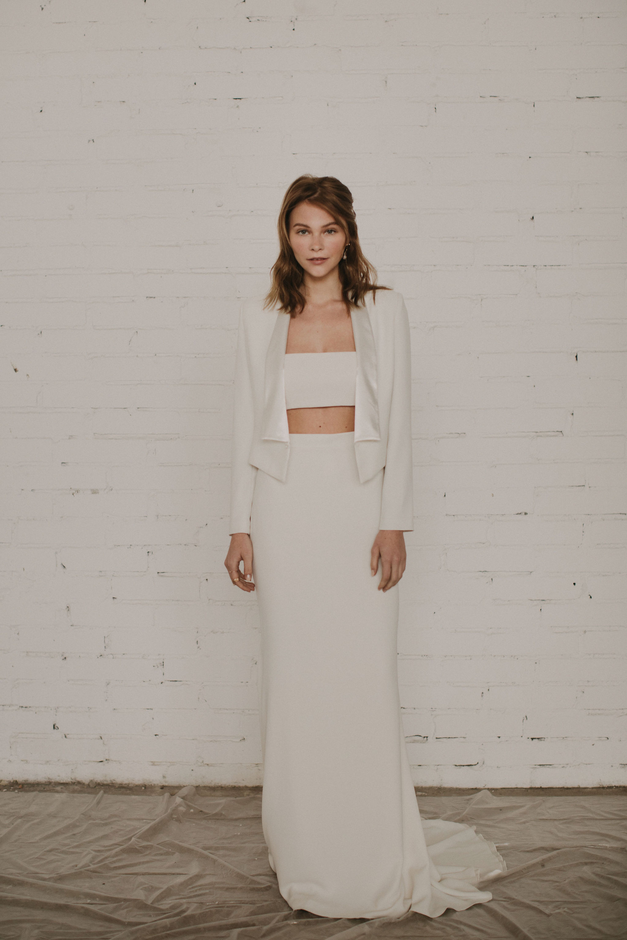 cool bridal separates and tuxedo jackets for the modern bride