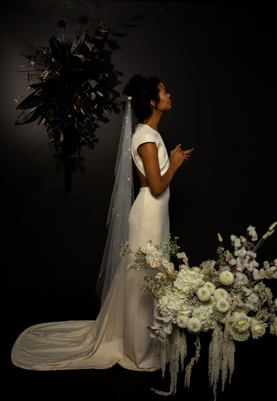 modern bridal editorial with Bon bride