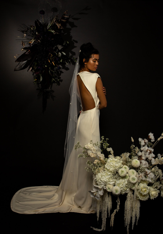 modern minimal wedding dresses by Bon Bride