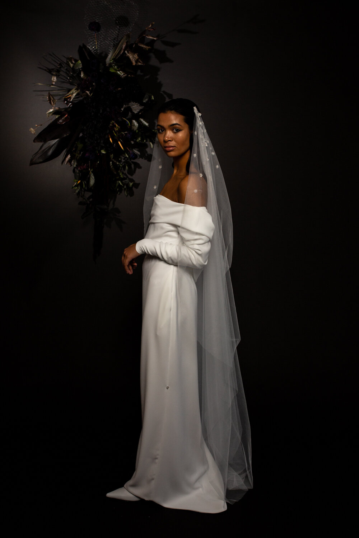 modern bridal styled shoot with BON BRIDE / BLUE MEADOW BRIDAL