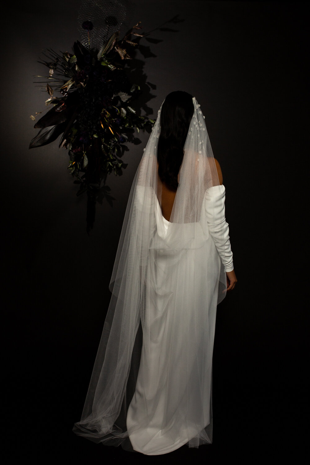 modern wedding veils and accessories by Blue Meadow Bridal