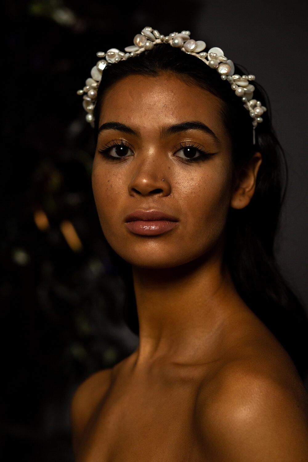 pearl beaded wedding crown at ARCHIVE 12