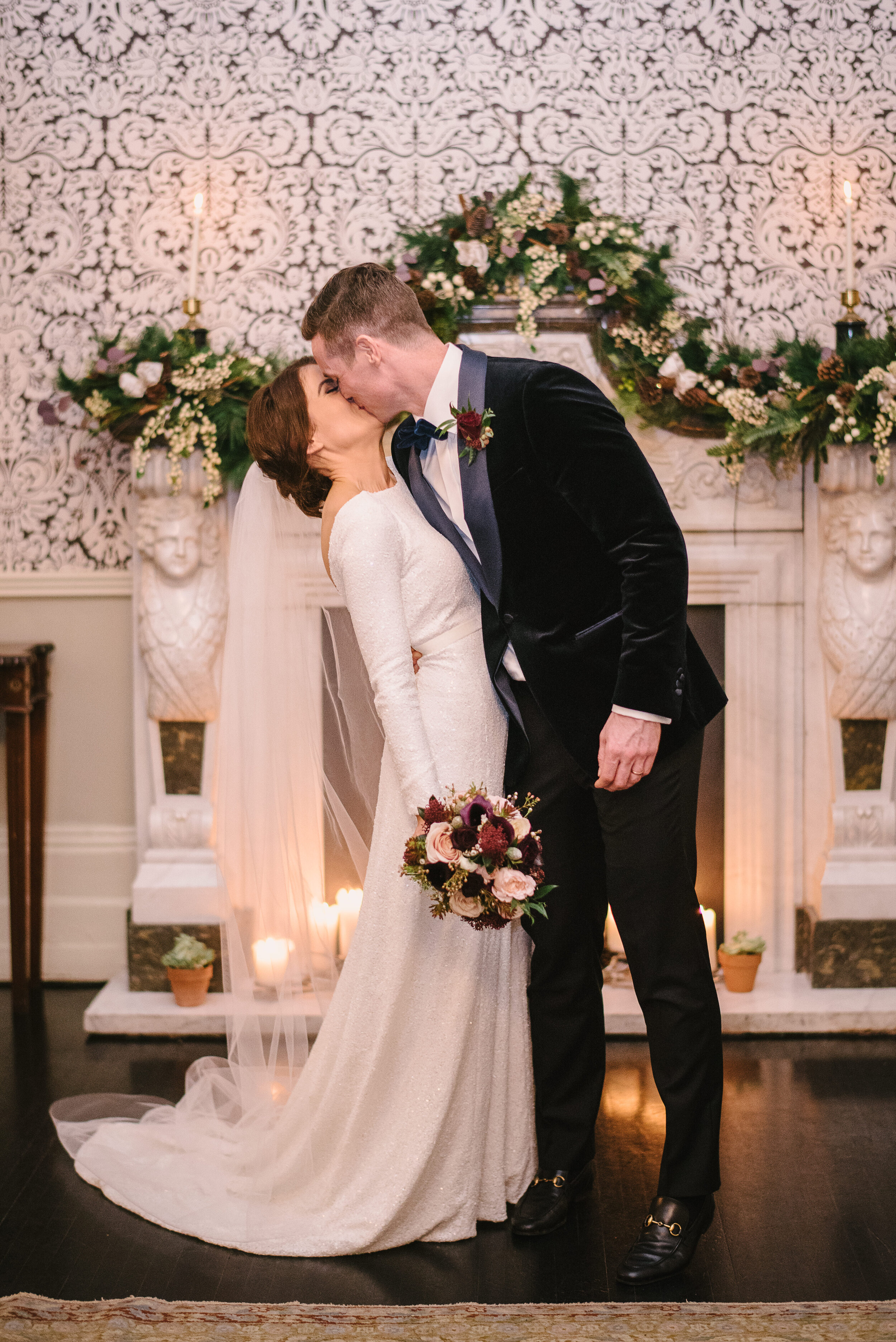 Roisin wears the Meghan sequin wedding dress by And For Love