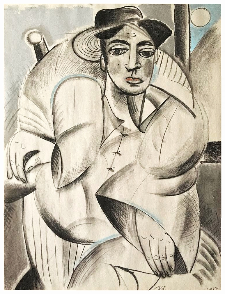 """Self Portrait in Chair"""