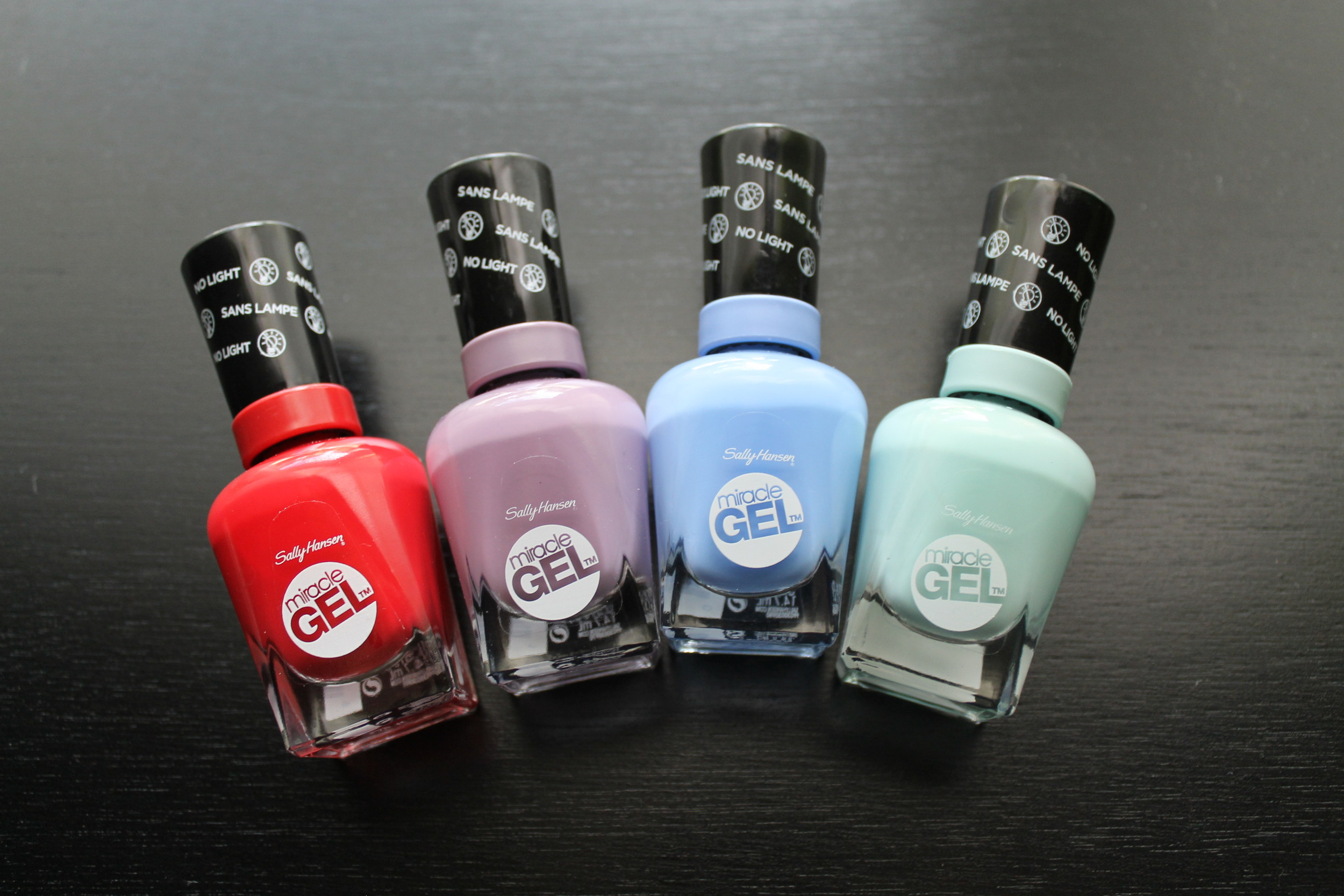 470 - Red Eye, 270 - Street Flair, 370 - Sugar Fix, 240 - B Girl. Not pictured: 100 Top Coat