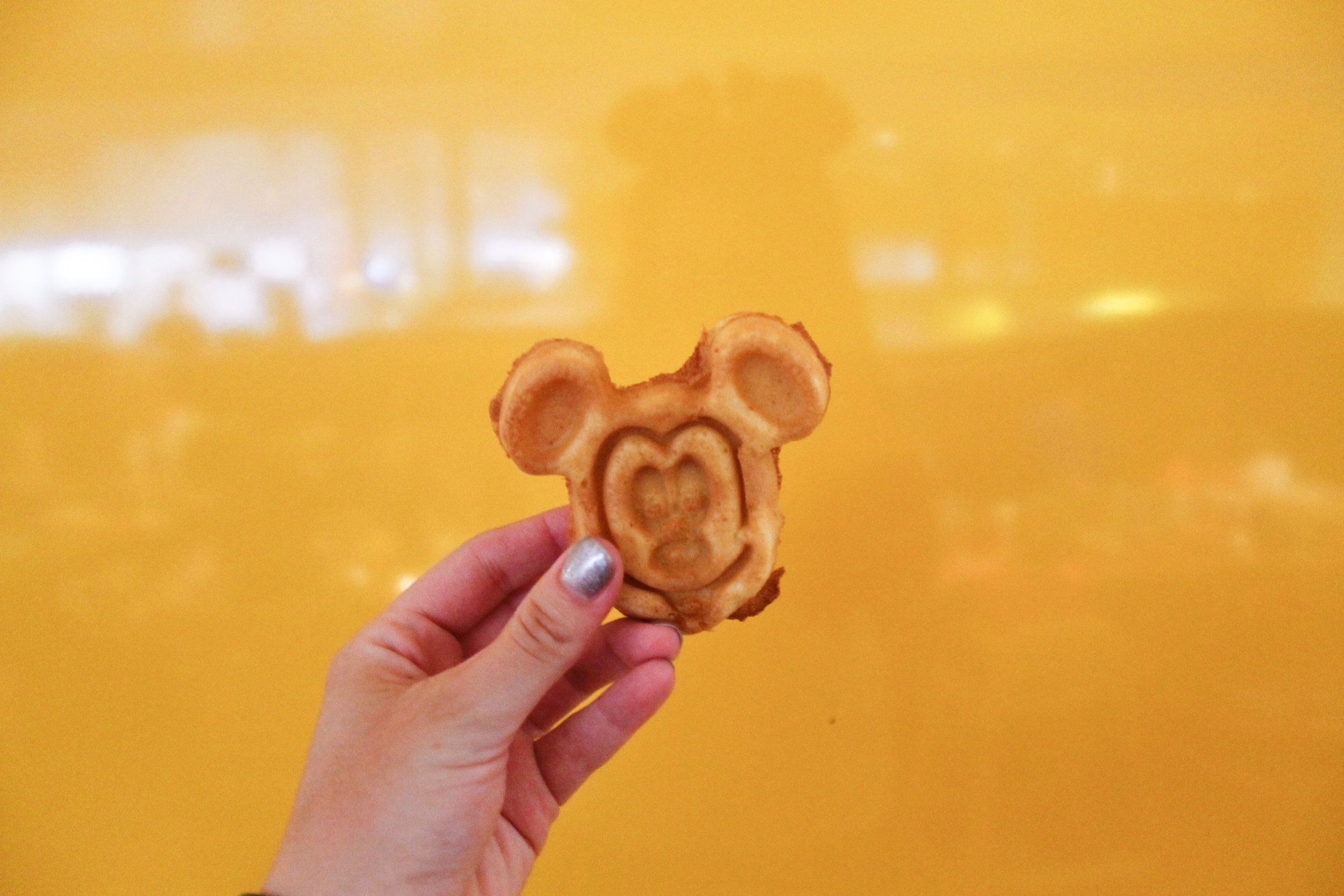 Mickey Waffles!! See I told you I love Mickey shaped food!