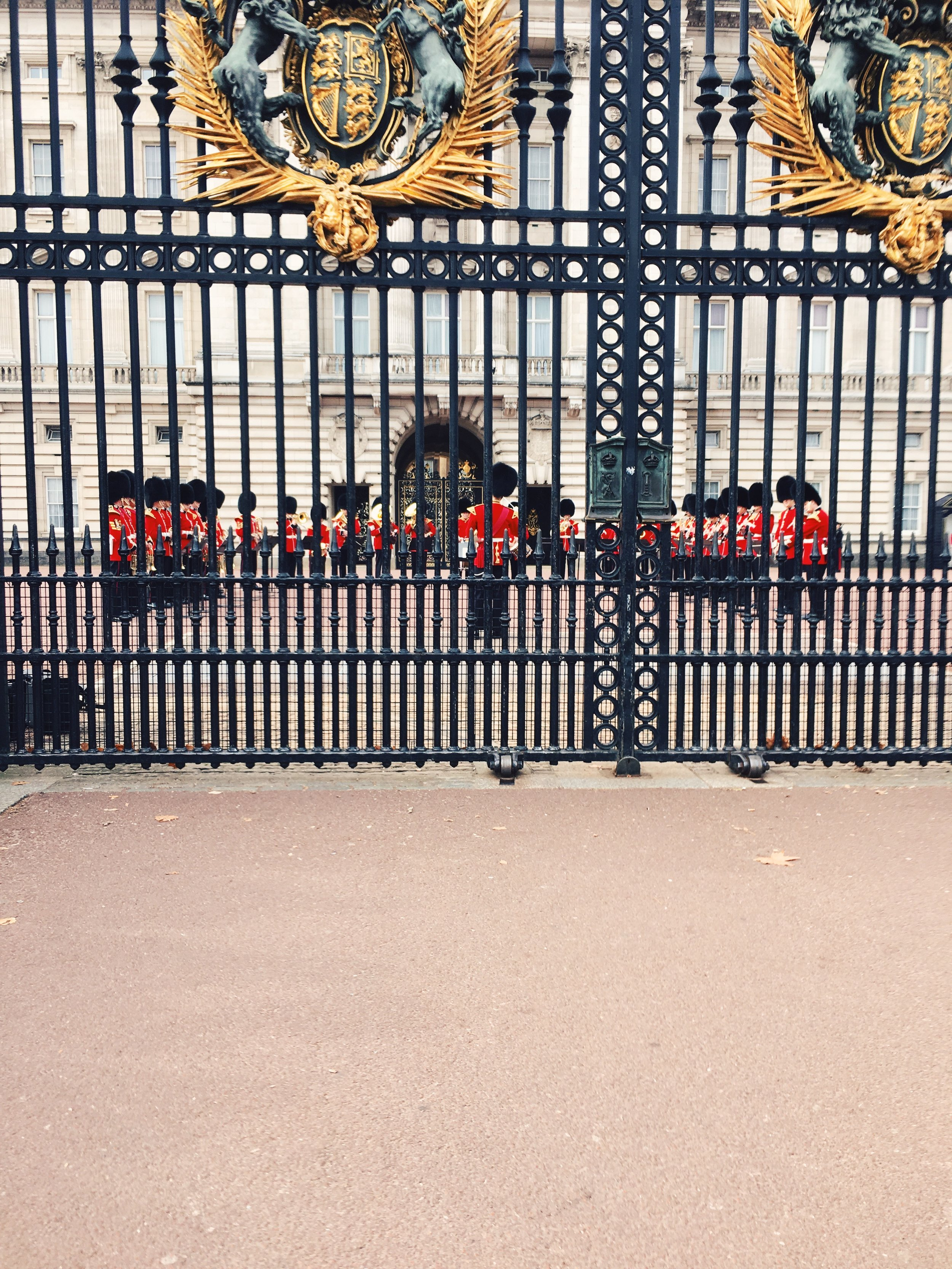 "Our only glimpse of the actual ""changing of the guard"", taken in a walkway where you couldn't stop."