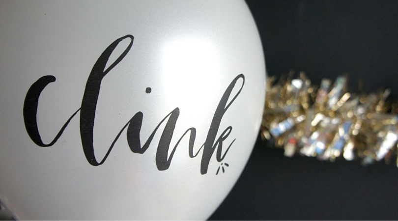 clink balloon for new years eve