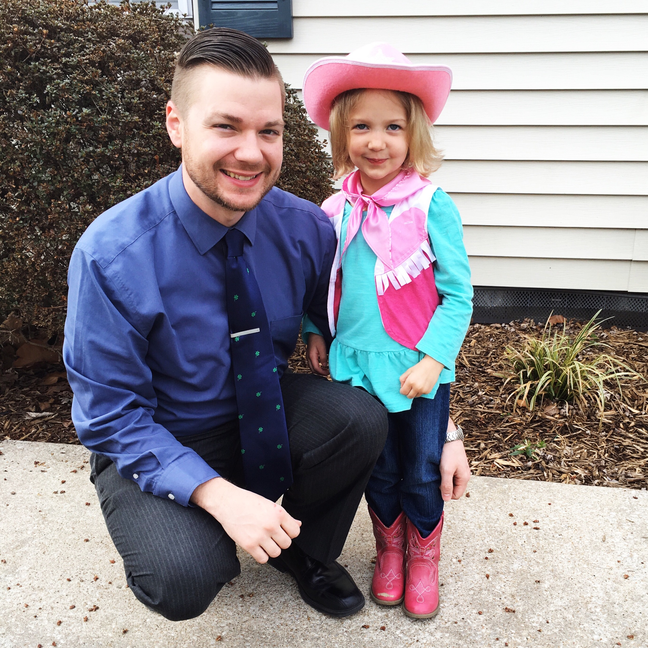 Western Day at school turned special when Daddy asked for a fancy photo-op.