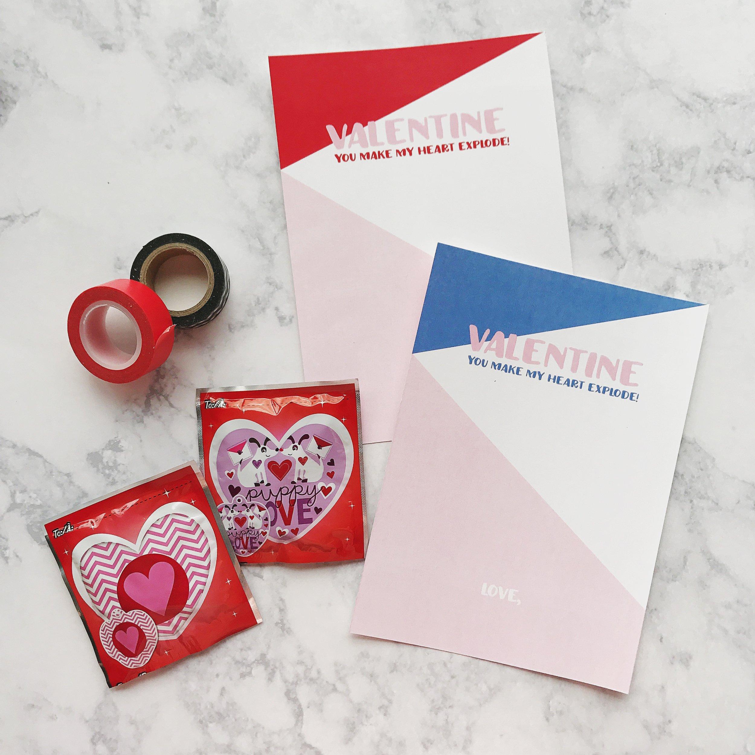 Free Printable Valentines Inflating Balloon