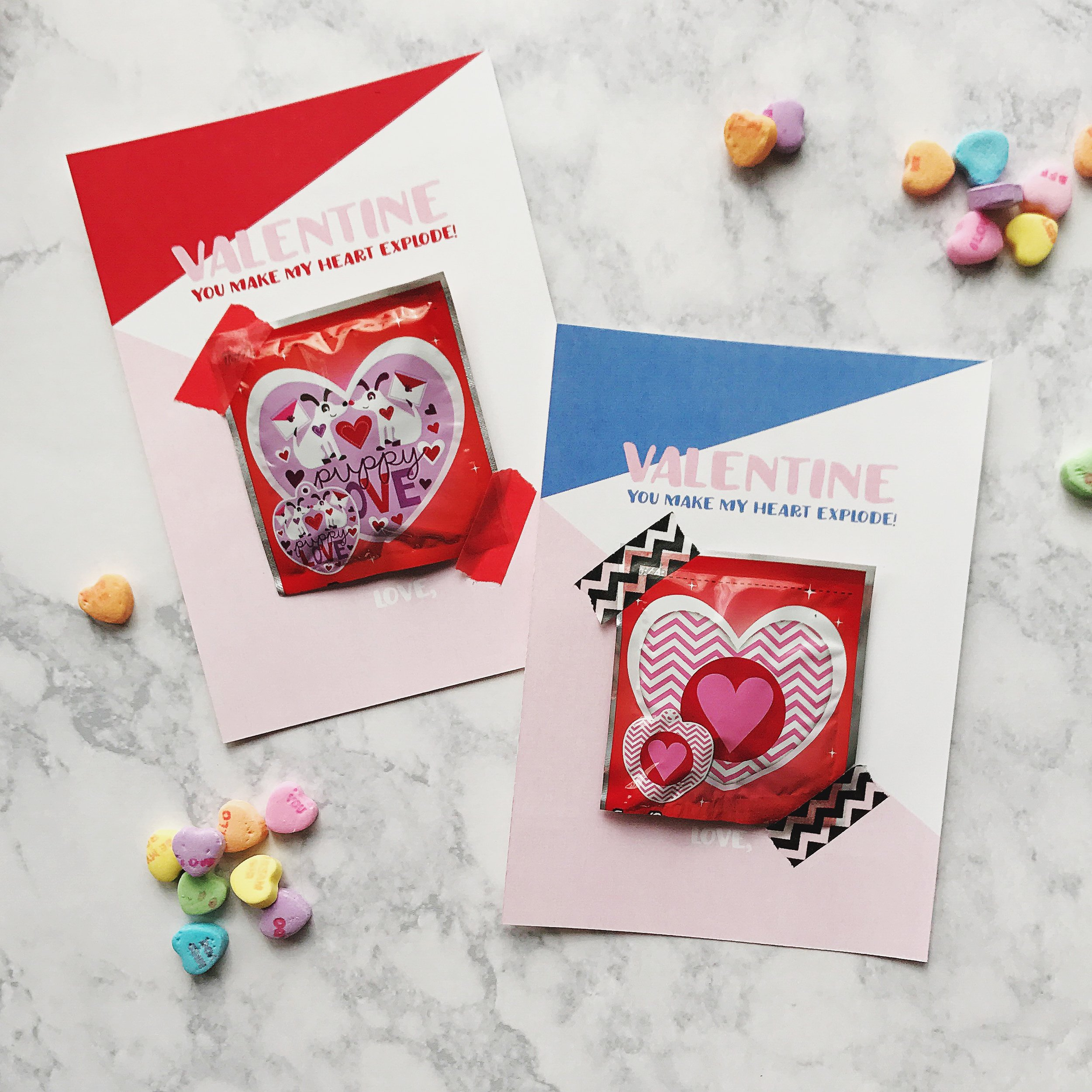Free Printable Valentines Cards Whack a pack