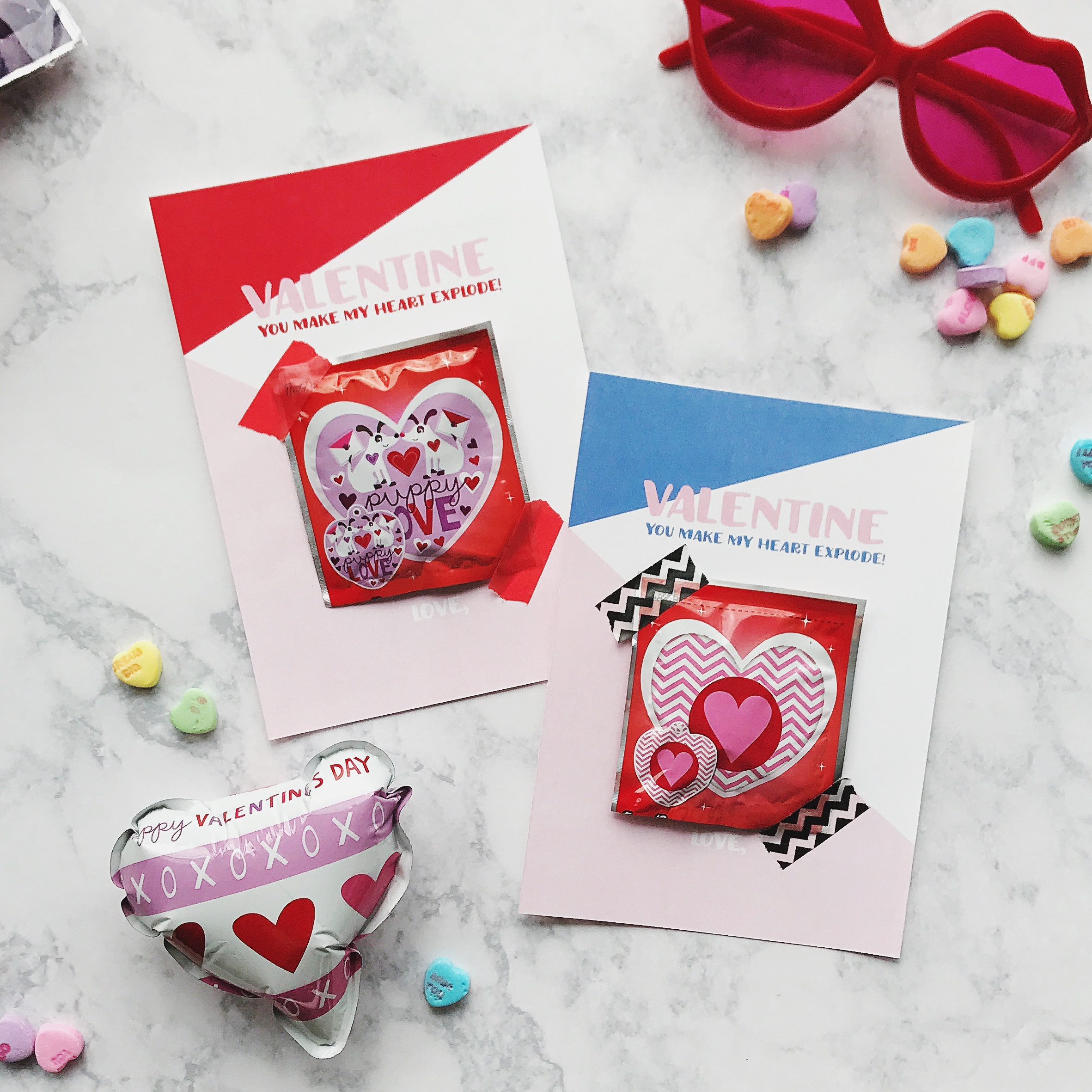Whack a Pack Valentines Cards