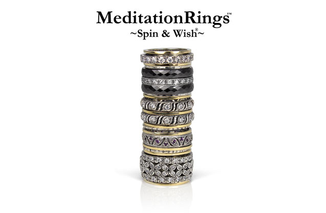 Meditation Rings - Based on the ancient Tibetan practice of turning prayer wheels, Meditation Rings are designed to increase good karma and purify negative thoughts
