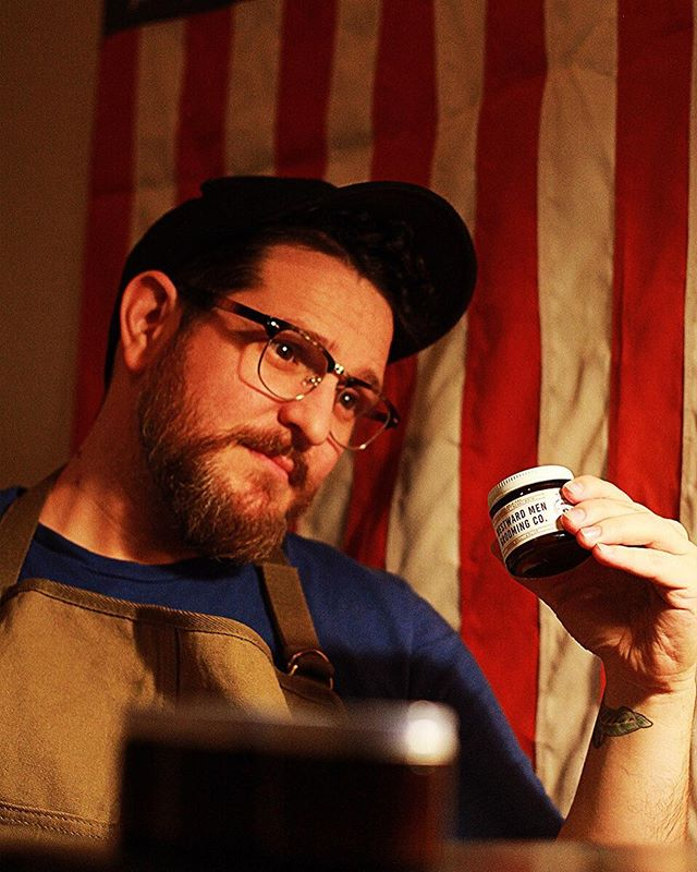 Ladies, find a man that looks at you the way @johnnythekid20 looks at our grooming balm!