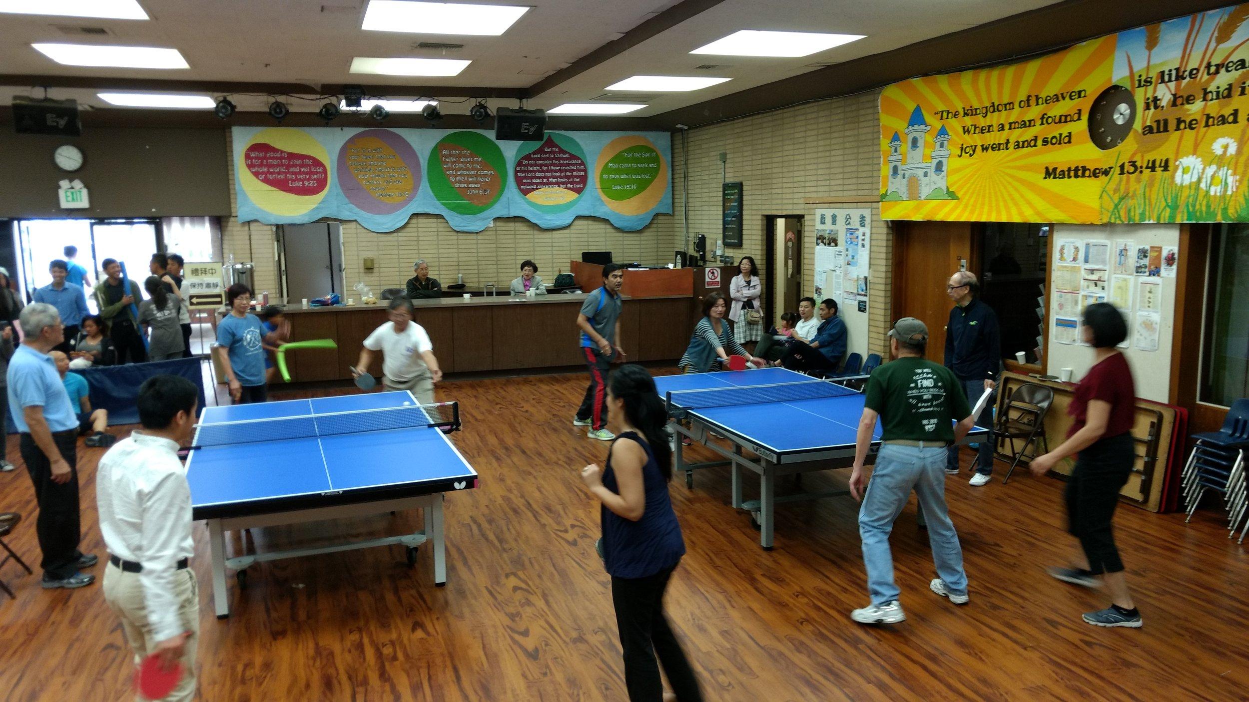 乒乓球活動