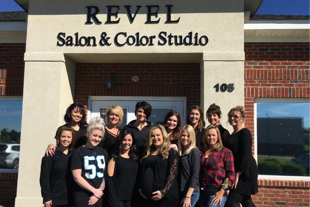 Our lovely stylists after an in-salon Redken Education Class!